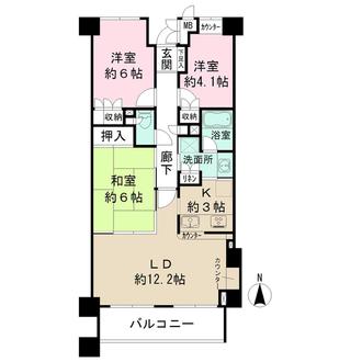 浦和高砂パークハウスの間取図