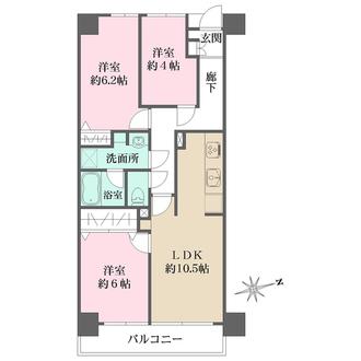 戸田公園スカイマンションの間取図
