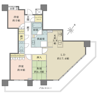 パークハウスさいたま新都心MID TOWERの間取図