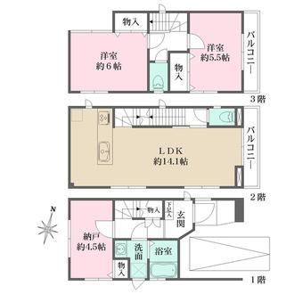 浦和区岸町1丁目 新築一戸建の間取図