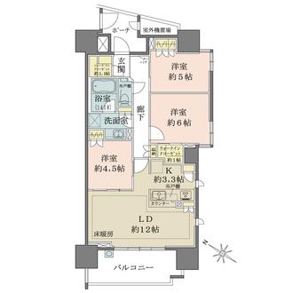 ザ・パークハウス浦和上木崎の間取図