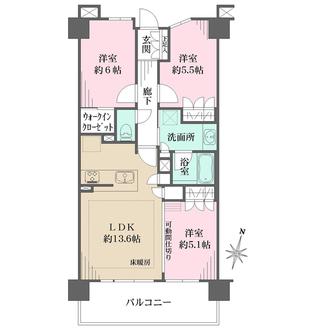 クレアホームズ北浦和楓雅の邸の間取図