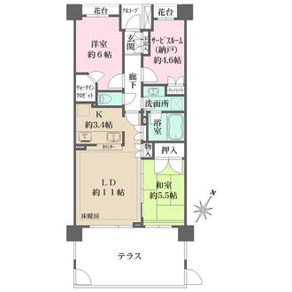 パークハウス中浦和の間取図