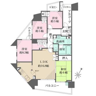 リーデンススクエアさいたま新都心の間取図