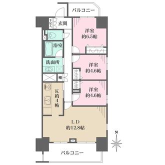 北浦和公園パークハウス スタイリッシュエアーの間取図