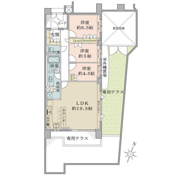 パークハウス松ノ木の間取図
