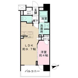 グランスイート高円寺の間取図
