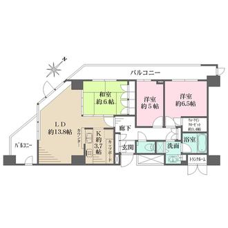 渋谷アインスの間取図