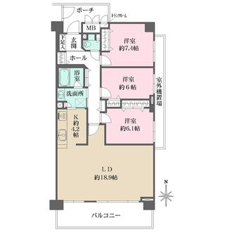 高井戸パークハウスの間取図
