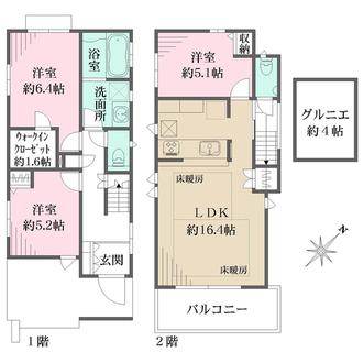 C号邸の間取図