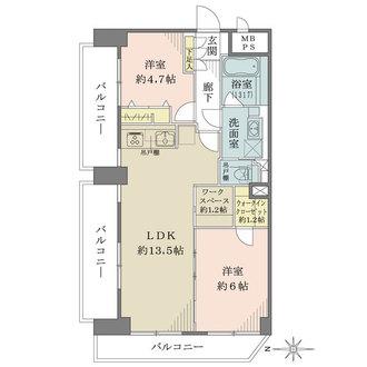 ラポール高円寺の間取図