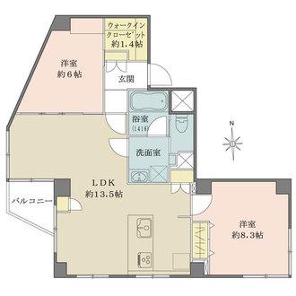 メトロ新高円寺マンションの間取図