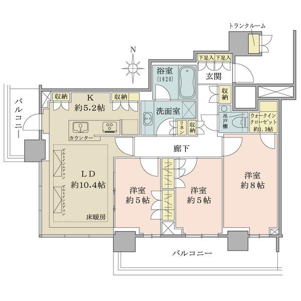 ザ・パークハウス晴海タワーズティアロレジデンスの間取図