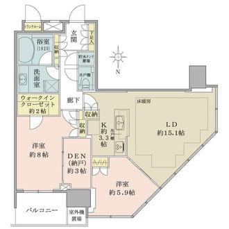 THE TOYOSU TOWERの間取図