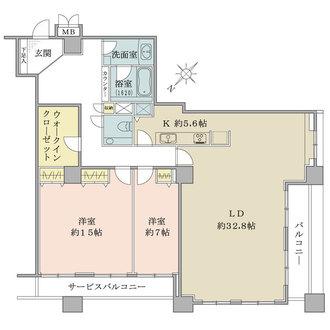 コスモ東京ベイタワーの間取図