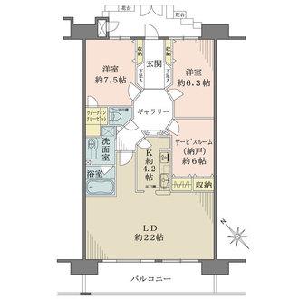 グランシティレイディアント東京イーストの間取図