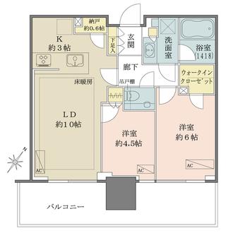 シティタワーズ東京ベイ セントラルタワーの間取図