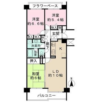 井口台パークヒルズ弐番館の間取図