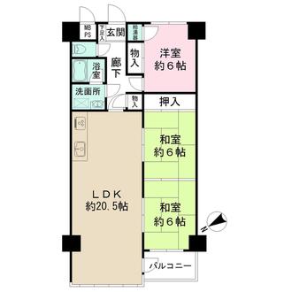 堺町CO-OPマンションの間取図