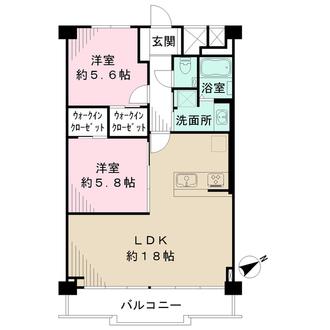 ファミール広島B棟の間取図