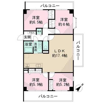 CO-OPマンションシートピアの間取図