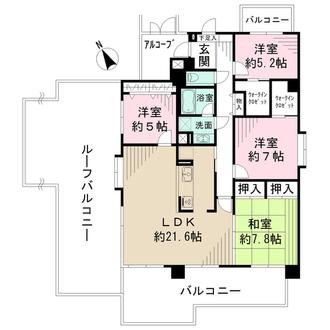 藤和緑井ハイタウンの間取図