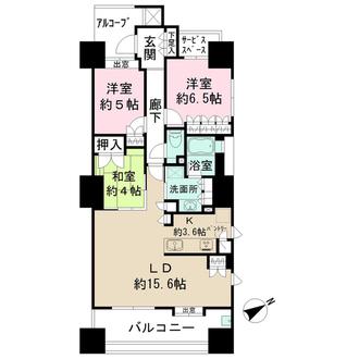 ザ・パークハウス広島駅前通りの間取図