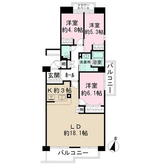 井口台東パークハウスの間取図