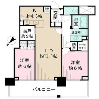 シティタワー広島の間取図