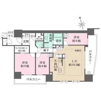 ザ・パークハウス広島平和公園の間取図