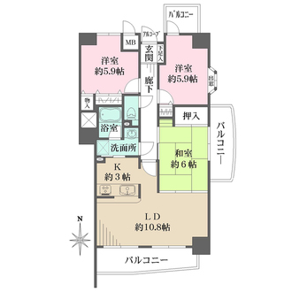 ハイタウン神宮山壱番館の間取図