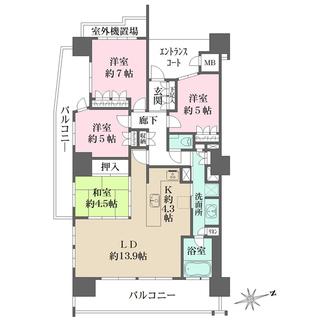 舟入本町パークハウスの間取図