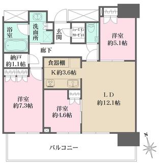 ザ・パークハウス広島タワーの間取図