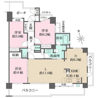 藤和祇園ホームズ緑道公園の間取図