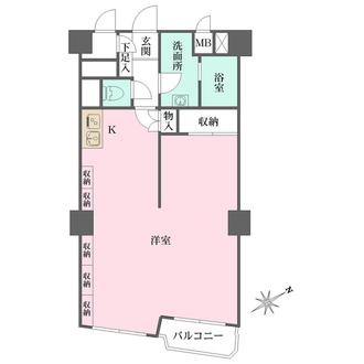 チサンマンション広島の間取図