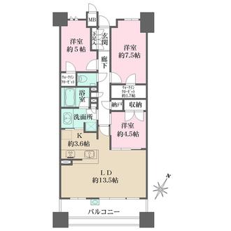 ザ・パークハウス赤坂タワーレジデンスの間取図