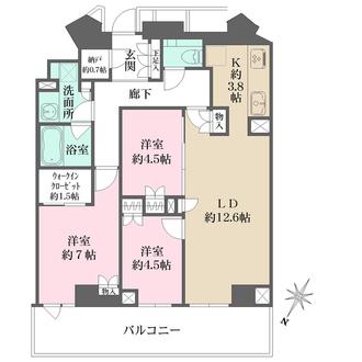 ザ・パークハウス福岡タワーズ WESTの間取図
