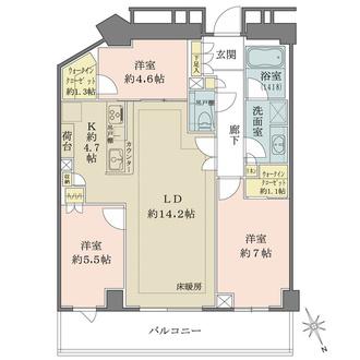 ザ・パークハウス福岡タワーズの間取図
