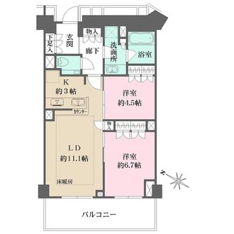 ザ・パークハウス福岡タワーズ の間取図