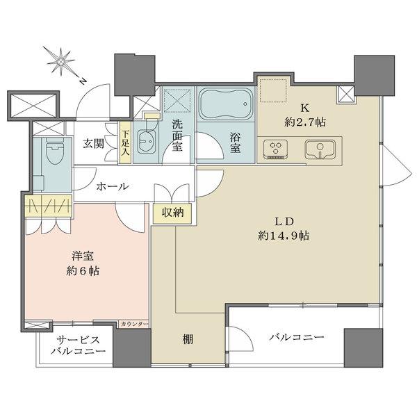 ウェリスタワー千代田岩本町の間取図