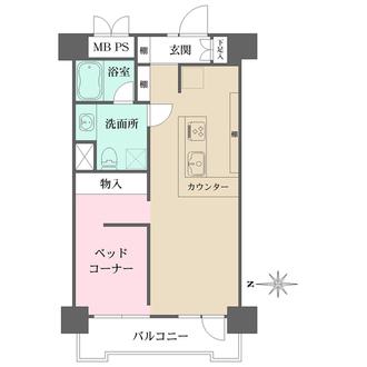 ライオンズマンション早稲田正門通りの間取図