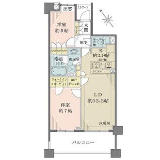 小石川ザ・レジデンスイーストスクエアの間取図