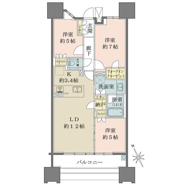 ザ・パークハウス名古屋の間取図