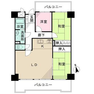 ライオンズマンションニューシティ蟹江五番館の間取図
