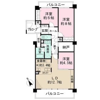 桜ケ岡レックスマンションの間取図