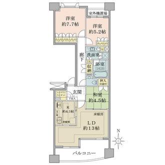 セントラルガーデン・レジデンスB棟の間取図