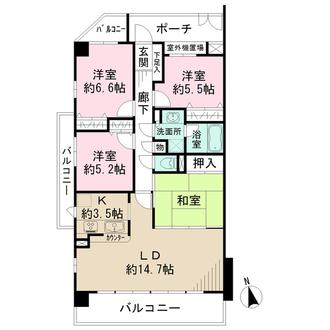 藤和覚王山ホームズの間取図