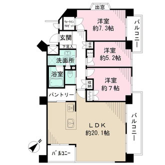 本山パークハウス壱番館の間取図