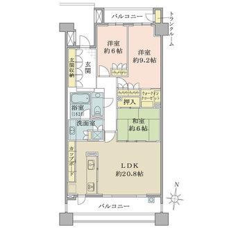 パークハウス覚王山向陽荘の間取図