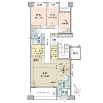 フォレスト東山パークハウスの間取図